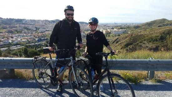 Bike Tours Malaga - We Bike Malaga!: At the top of one of the mountains with thanks to our tour guide Tom!