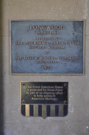 Natchez, MS: plaque