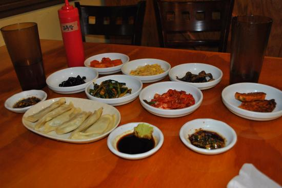 LaGrange, GA: Banchan (Sides) and Mandu (Pot stickers)