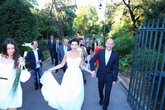 Domaine de Grammont : Свадьба (выходим из парка)