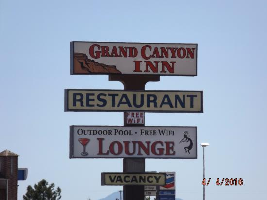 gas station is next to the grand canyon inn recently renovated and rh tripadvisor com