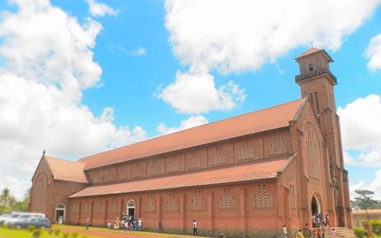 Oyem, Gabon: beutiful old church