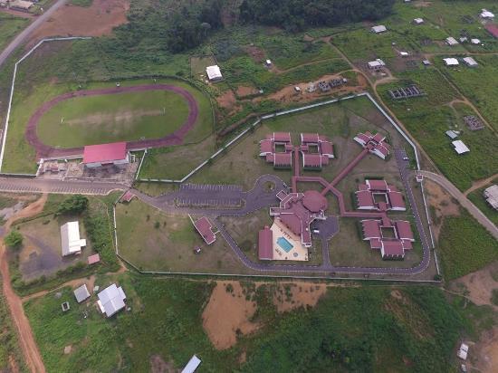 Moanda, Gabon: aerial view