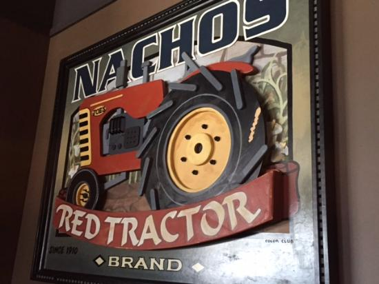 Nachos red Tractor sign, Original Joes, Strathmore, Alta, New life in BC!