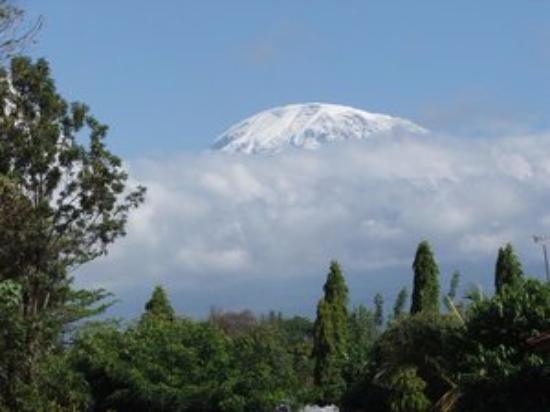 Mount Kibo: Kibo peak seen from lower slopes of Mount Kilimanjaro