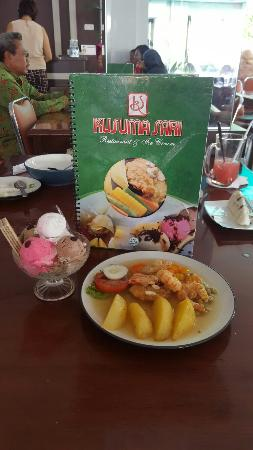 shrimp teriyaki kusuma sari ice cream picture of rumah makan rh tripadvisor com au