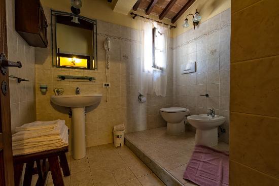 Montespertoli, Itália: Apt, Ciliegio: Bathroom