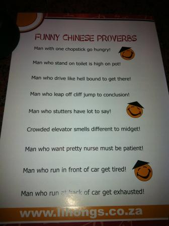 Funny Chinese Proverbs! :) - Picture of Lihong's Asian