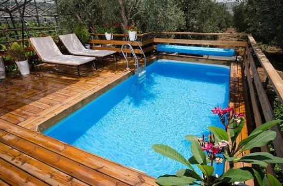 Kfar Yehezkel, Israel: Private pool - The romantic suite