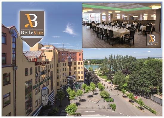 Das Restaurant BelleVue im Hotel Dreiländerbrücke****
