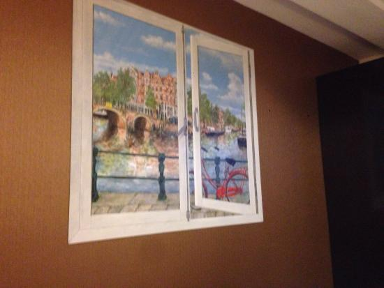Window Painted On Wall Instead Of A Real Window Picture Of Hotel