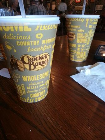 Cracker Barrel : Chocolate milk and peg fun