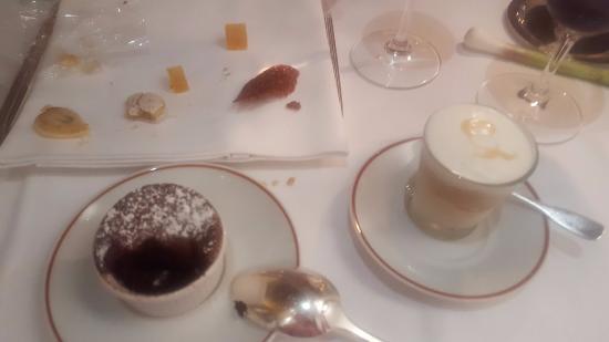 L'Arpege: Lemon ice cream on right heaven on a spoon!