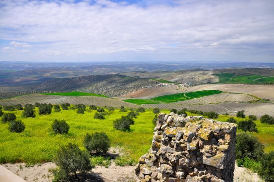 Baena, Spanien: Ascendiendo a la torre del homenaje