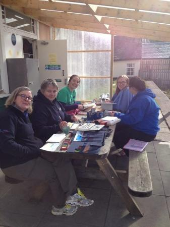 Abernethy Bunkhouses: Leaders relaxing at Nethybridge Station Hostel