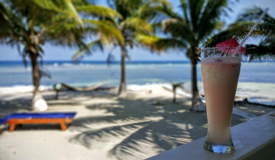 Blue Marlin Beach Resort: Yummy pina colada -taken on our deck (#14)