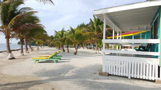 South Water Caye, Belize: view from one end of the grounds