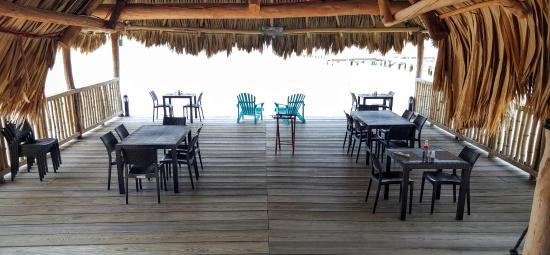 South Water Caye, Belize: open air and barefoot dining...can't get any better