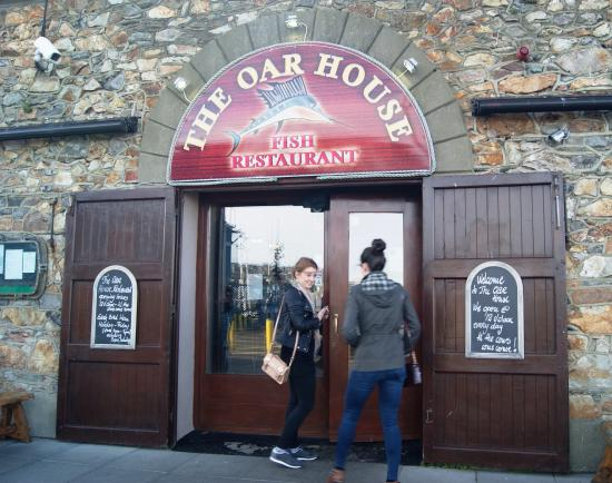 The entrance to the oar house on howth pier picture of for The fish house restaurant