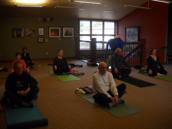 Allenspark, CO: yoga classes upstairs at The Old Gallery--both beginning and intermediate!