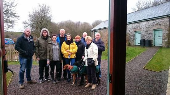 Sennybridge, UK: Our walking group before we set off for the pub