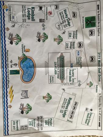 Island Inn: Map of hotel grounds