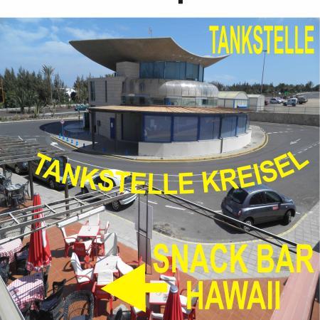 Restaurant Pizzeria Hawaii : Im Kreisel mit der Tankstelle in der Mitte