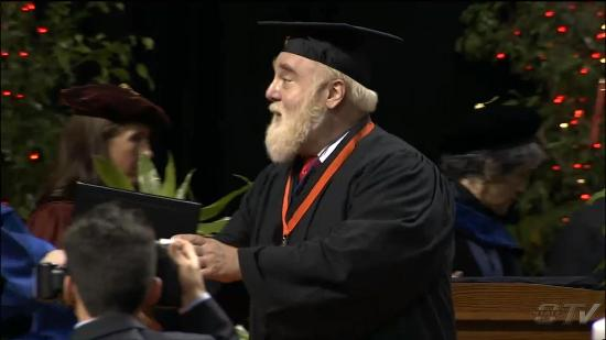 My graduation from Oklahoma State 12 December 2015