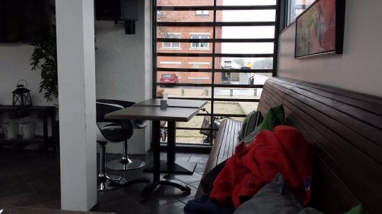 Skjern, Dania: Cafe von innen