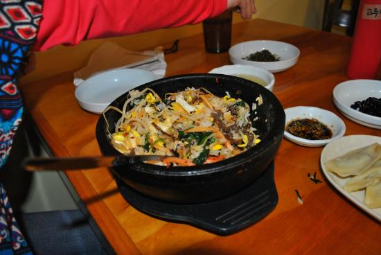 LaGrange, GA: Dolsot Bibimbap (Rice, Beef, Vegetables, Pepper Paste in a Hot Stone Bowl)