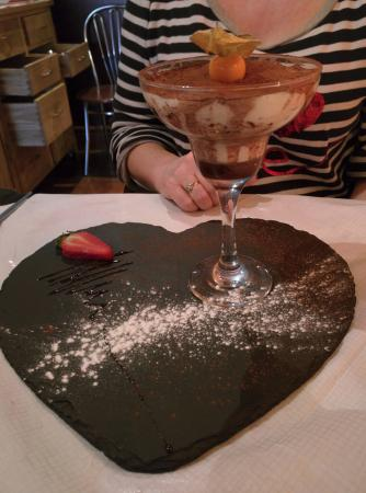 Tiramisu is superb at Tiramisu restaurant, Blackpool.