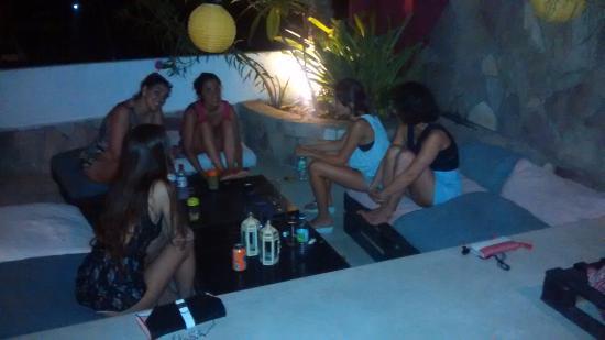 Aqui : Disfrutando de la noche al aire libre en Pipa!