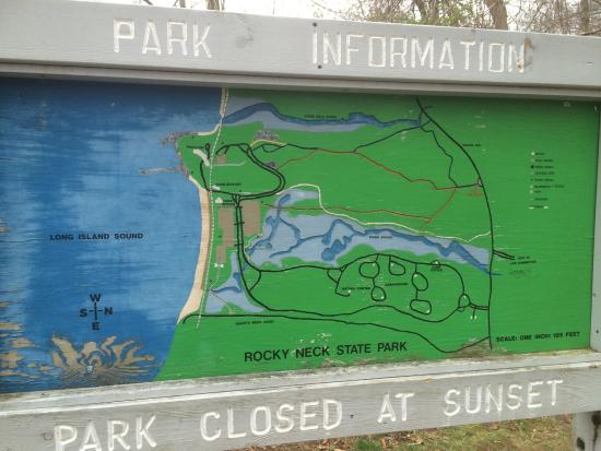 Rocky Neck State Park: These are the trails that are posted before you enter