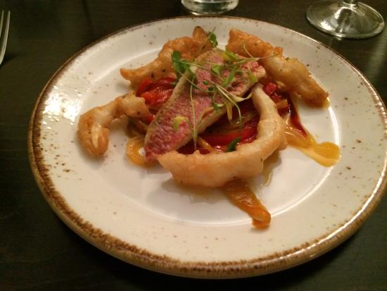 Strete, UK: Red mullet starter