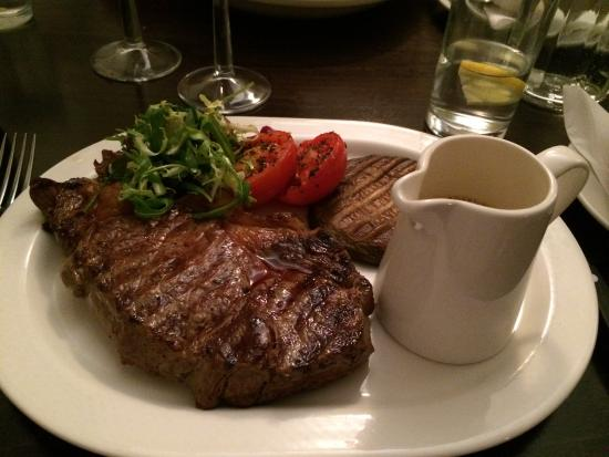 Strete, UK: Main course of steak