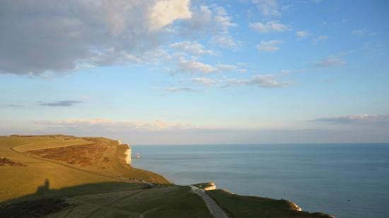 Belle Tout Lighthouse: One of the stunning views from the Lantern Room, taken during the golden hour