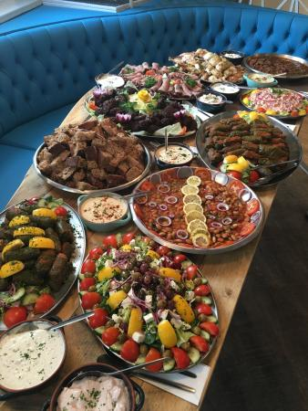buffet for a party at the meze grill picture of meze grill rh tripadvisor com