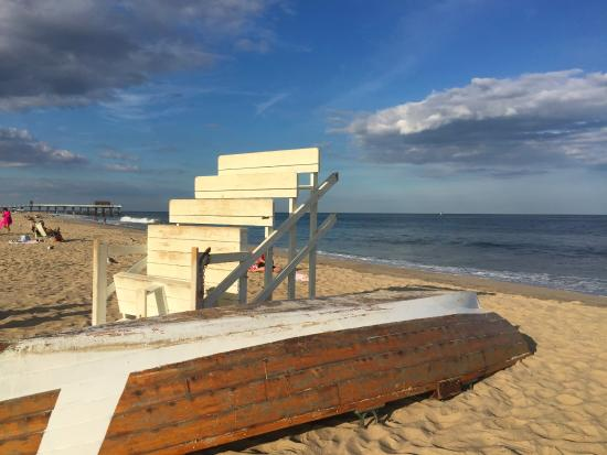 Belmar, NJ: 4th avenue beach - only 1 and 1/2 blocks from The Inn at the Shore