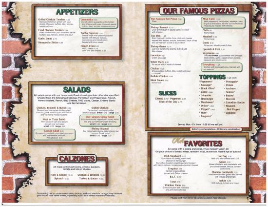 Bridgewater, MA: menu