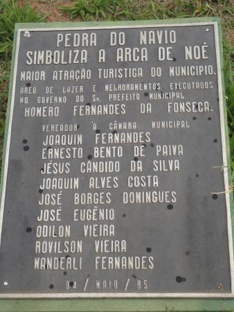 Sao Joao da Mata, MG: Placa - Maio de 1985
