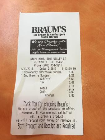 Greenville, TX: Braum's