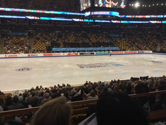 TD Garden: Club Section 143, Row BB   Pairs Short Program