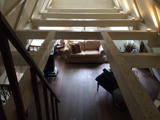 The Flying Pancake B&B Amsterdam: View from loft with bed