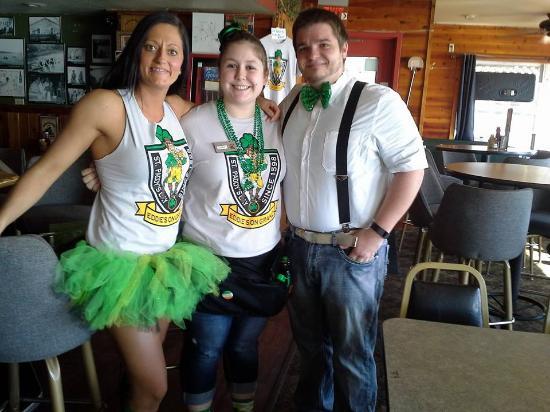Cold Spring, MN: Some of the Eddie crew on Sait Patricks Day