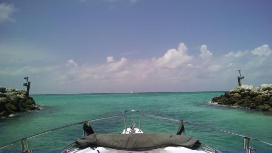 Going out Bimini Sands Inlet