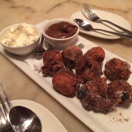 Palomino - Los Angeles: Sicilian Donuts with mascarpone and Nutella.