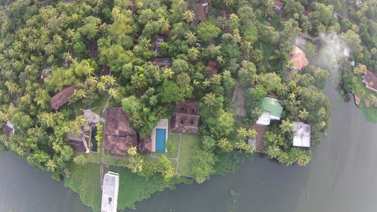Satellite View Picture Of Shanthitheeram Lakeside Heritage - Satellite view