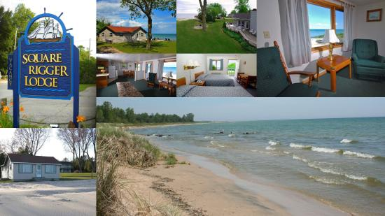 Square Rigger Lodge: 286' of beachfront shoreline with cottages and motel availability.