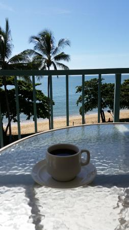 Beachfront Apartments on Trinity Beach: Perfect place for my morning coffee