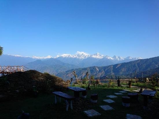 Perfect place to enjoy forest and snow capped mountains simultaneously at Ravangla
